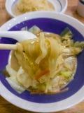 Soba och för nudelmat för griskött japansk stil royaltyfri foto