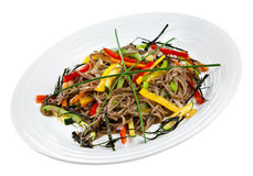 Soba with Vegetables Stock Image