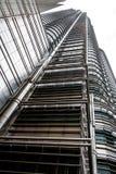 Sobald das höchste Gebäude in der Welt noch ein Markstein in Malaysia Die petronas-Kontrolltürme stockbild
