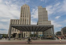 Sobald es die Wand gab: Potsdamer Platz, Berlin lizenzfreie stockfotografie
