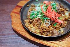 Sobameshi Fried Noodles et riz Photo libre de droits