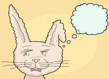 Sobbing Cartoon Rabbit Royalty Free Stock Photos