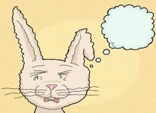Sobbing Cartoon Rabbit Royalty Free Stock Photos