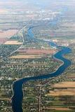 Sobborgo della città di Edmonton Fotografie Stock