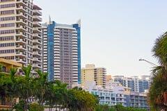 Sobborgo di Miami Beach di mattina Immagine Stock