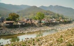 Sobborgo nepalese della città Immagini Stock