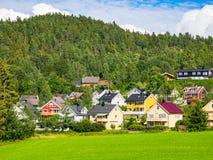 Sobborgo norvegese vicino ad Oslo Fotografie Stock Libere da Diritti