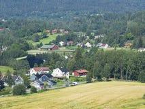 Sobborgo norvegese vicino ad Oslo Fotografia Stock Libera da Diritti