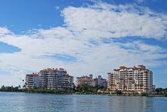 SoBe Insel-Eigentumswohnungen Stockbilder