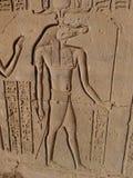 Sobek, il dio del coccodrillo, Kôm Ombo immagini stock