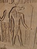 Sobek, le dieu de crocodile, Kom Ombo images stock