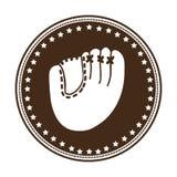 Sober baseball emblem or label icon image Stock Image
