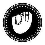 Sober baseball emblem or label icon image Royalty Free Stock Images