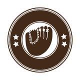 Sober baseball emblem or label icon image Royalty Free Stock Image