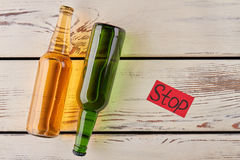 Sober lifestyle, stop drinking alcohol. Stock Photo