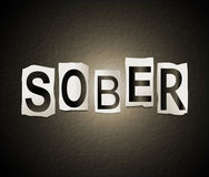 Sober word concept. Stock Image