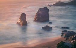 Soberanes point big sur california beautiful sunset stock photo