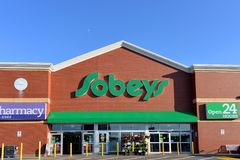 Sobeys grocery supermarket in Nova Scotia Royalty Free Stock Image