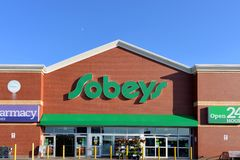 Sobeys grocery supermarket in Nova Scotia Royalty Free Stock Image