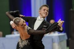 Sobolevskiya Iliya and Buldyk Arina Perform Youth-2 Standard Program on National Championship Royalty Free Stock Images