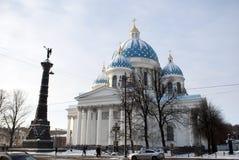 Sobor Svyatoy Zhivonachalnoy Troitsy em St Petersburg, Rússia Imagem de Stock