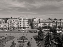 Soborna广场,文尼察,乌克兰看法  库存图片