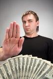 Soborno del dinero Imagen de archivo