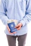 Soborno en el pasaporte aislado Foto de archivo