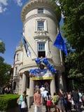Sobota Otwarty dom przy ambasadą Estonia Fotografia Royalty Free