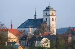 Sobotka,捷克共和国 库存照片