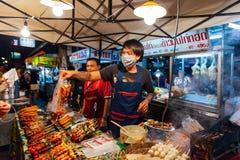 Sobotnia Noc rynek, Chiang Mai, Tajlandia Zdjęcia Stock