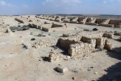 Sobras antigas do acampamento dos soldados romanos Fotos de Stock