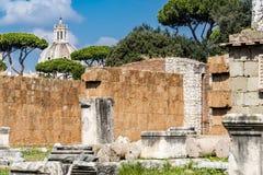 Sobras da basílica Aemilia, Roman Forum, Roma, Itália Fotos de Stock