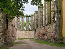 Sobras da igreja gótico em Panensky Tynec Checo Republ Imagem de Stock Royalty Free