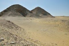 Sobras da necrópolis de Memphis em Saqqara Fotos de Stock Royalty Free