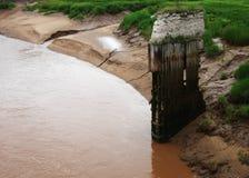 Sobras da ponte velha Imagem de Stock Royalty Free