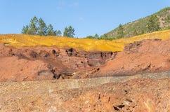 Sobras das minas velhas de Riotinto na Espanha de Huelva fotografia de stock