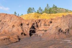 Sobras das minas velhas de Riotinto na Espanha de Huelva imagem de stock