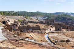 Sobras das minas velhas de Riotinto na Espanha de Huelva foto de stock royalty free
