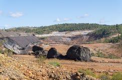 Sobras das minas velhas de Riotinto na Espanha de Huelva fotos de stock royalty free