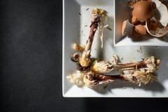 Sobras de la comida Fotografía de archivo