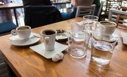 Sobras después que comen café Fotografía de archivo