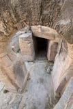 Sobras do anfiteatro romano na praça Sant 'Oronzo, no centro da cidade histórica de Lecce, Puglia, Itália do sul imagem de stock royalty free