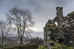 Sobras do assombro do distrito de Arichonan em Escócia Imagem de Stock
