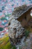 Sobras do forte de Afyonkarahisar em Turquia Fotografia de Stock