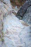 Sobras do forte de Afyonkarahisar em Turquia Foto de Stock