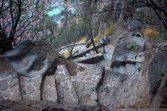 Sobras do forte de Afyonkarahisar em Turquia Fotos de Stock Royalty Free