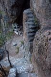 Sobras do forte de Afyonkarahisar em Turquia Fotos de Stock
