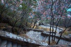 Sobras do forte de Afyonkarahisar em Turquia Imagem de Stock