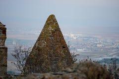 Sobras do forte de Afyonkarahisar em Turquia Imagens de Stock
